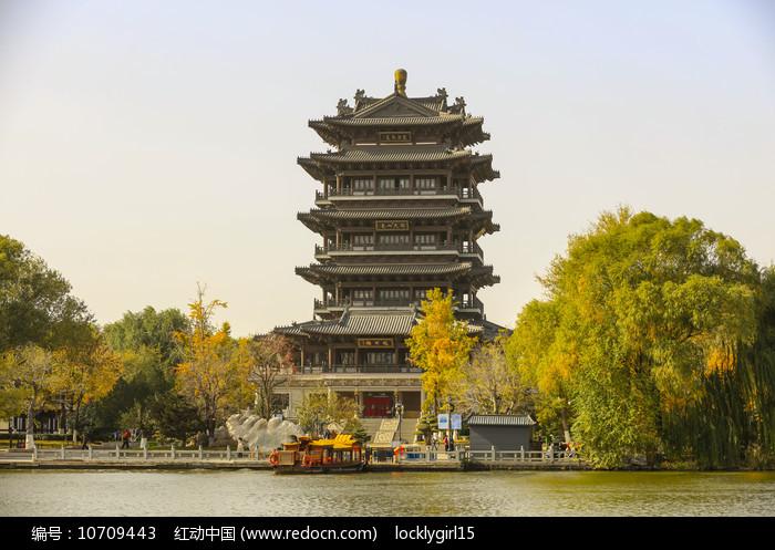 济南大明湖风景区超然楼图片