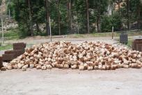 灵芝培植木糠麦麸混合营养包