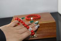文玩拍摄-红珊瑚手串