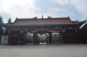 公园大门古建筑