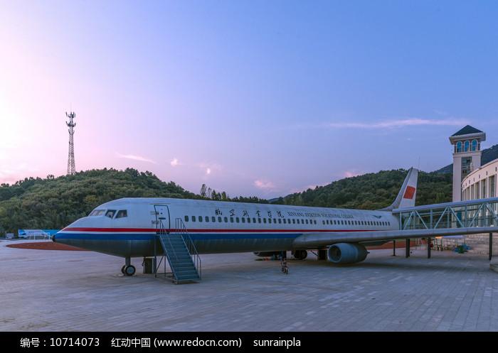 民航实习飞机图片