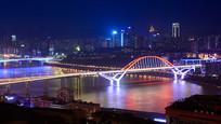 七彩的菜园坝大桥