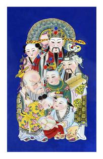 杨柳青年画福禄寿
