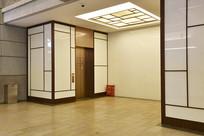 中式风格的电梯等候区