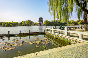 济南市大明湖超然楼风光