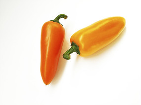 两橙色辣椒