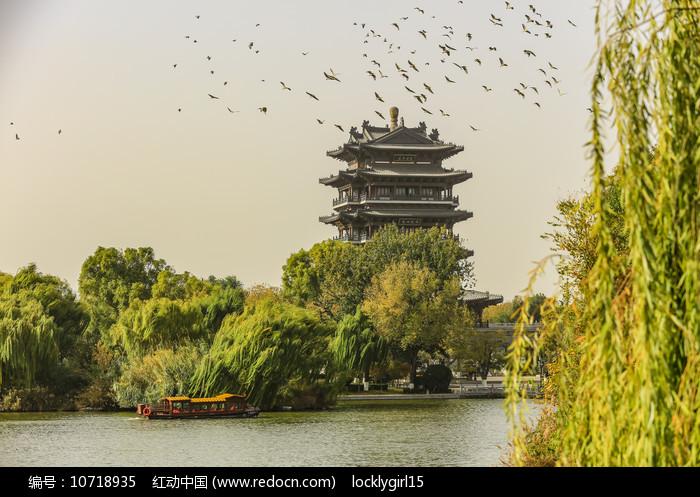 山东济南大明湖风景区超然楼图片