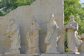 大都建典花岗岩群雕-外国使节