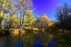 大兴安岭秋季森林河