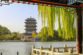 济南大明湖超然楼风光