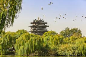 济南大明湖公园古建筑之超然楼