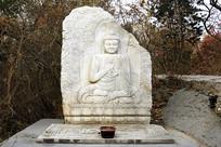 北京古蓟门遗址的佛像石刻