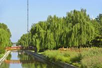 北京小月河上的园林景观