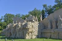 北京元大都建典黄花岗岩雕塑