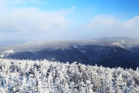 大兴安岭原始森林冬季冰雪风光