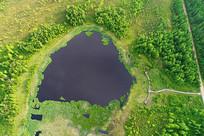 航拍大兴安岭马兰湖