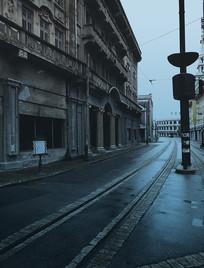 冷清上海街道