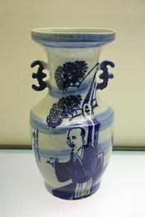 清代磁州窑掸瓶