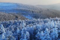 山峦雪岭山林风景