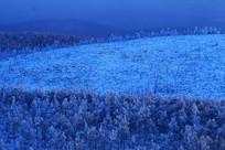 雪岭山林风景