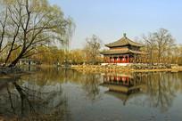北京圆明园万春园鉴碧亭水景