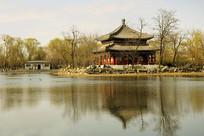 北京圆明园万春园-鉴碧亭水景