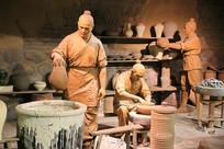 磁州窑制瓷工艺复原雕像