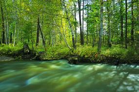 大兴安岭绸缎般的小河流