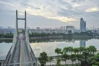 航拍信阳民桥