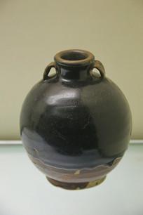 黑釉双系小口瓶元代