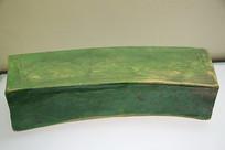 绿釉荷叶鹅枕头金代