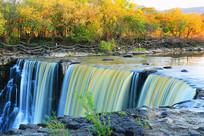 秋季镜泊湖瀑布