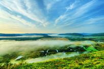 森林湿地云海