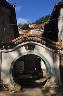 圆形大门古建筑