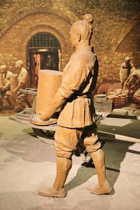 制瓷工艺复原雕像搬运