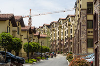 重庆市巫山县摩天岭成排的楼房