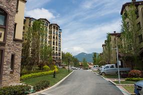 重庆市巫山县摩天岭居住区美景
