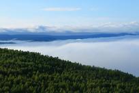 大兴安岭森林云雾缭绕