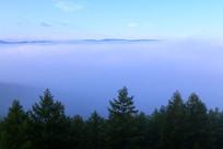 大兴安岭云雾升腾
