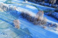 冰河丛林雾凇风光
