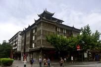 成都都江堰城区中式风格建筑
