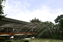 成都都江堰南桥及喷泉