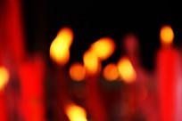 模糊红烛火焰