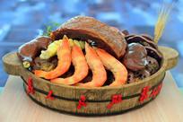 广东客家传统-元宵大盆菜模型