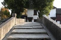 上海练塘古镇石拱桥横构图