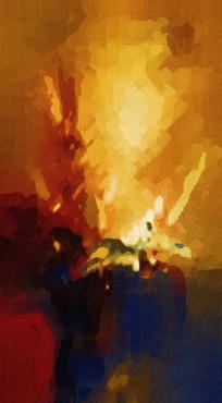 玄关抽象油画