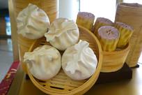 粤式传统点心虾饺和烧麦模型