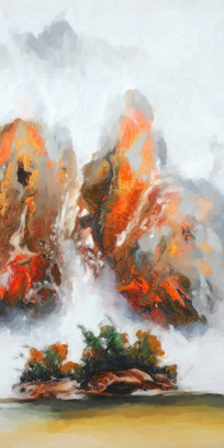 中国风山水室内装饰画