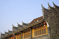 洛带古镇中国艺库传统封火墙