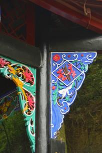 青城山牌楼古建构件雀替雕塑